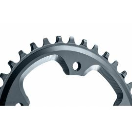 Absolute Black CX 1x Oval 110/4 Chainring Grey