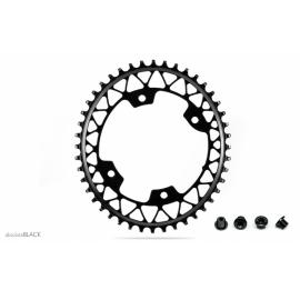 Absolute Black Gravel 1X Oval 110/4 Chainring Black
