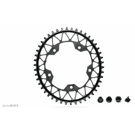 Absolute Black Gravel 1X Oval 110/5 Chainring Black