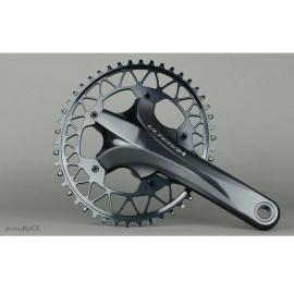 Absolute Black Gravel 1X Oval 110/5 Chainring Grey