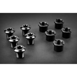 Absolute Black Long 4 Pack Chainring Bolts