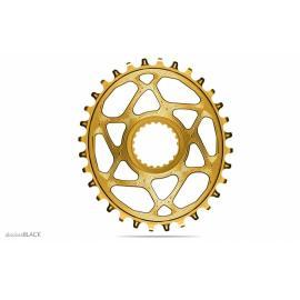 Absolute Black MTB Oval XTR, XT, SLX 12sp DM Chainring Gold