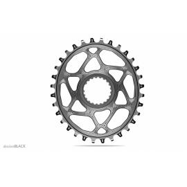 Absolute Black MTB Oval XTR, XT, SLX 12sp DM Chainring Grey