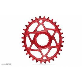 Absolute Black MTB Oval XTR, XT, SLX 12sp DM Chainring Red