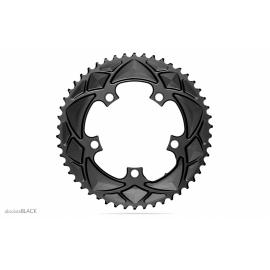 Absolute Black Road Round 2X For Shimano 110/5 Chainring Grey
