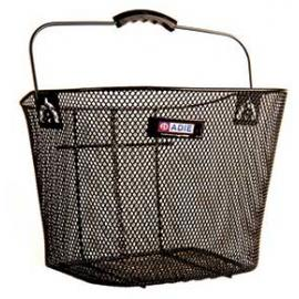 Adie Mesh Basket and Bracket Black