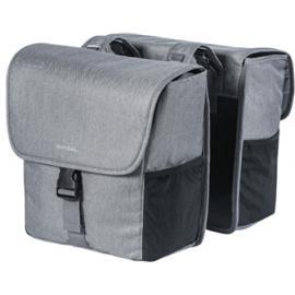 Basil Go-Double Bag 32L Grey Melee