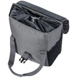 Basil Go-Single Bag 16L Grey Melee