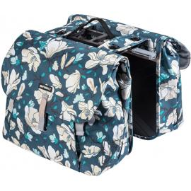 Basil Magnolia Double Bag Mik Teal Blue