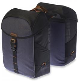 Basil Miles Double Bag Black Slate