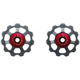 BBB BDP-22 AluBoys Ceramic Jockey Wheels 11T Grey