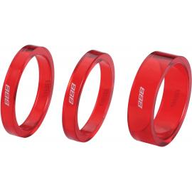 BBB BHP-37 TransSpace Headset Spacers Red