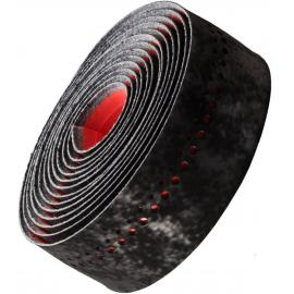 Bontrager Velvetack Handlebar Tape Black/Viper Red