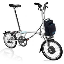 Brompton H6L Electric Bike Gloss White