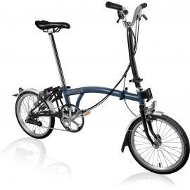 Brompton H6L Folding Bike Tempest Blue 2020