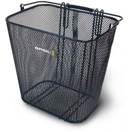 Basil Side Mounted Mesh Basket With Pannier Hooks Black