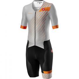 Castelli Free Sanremo 2 Suit SS Grey/Orange 2021
