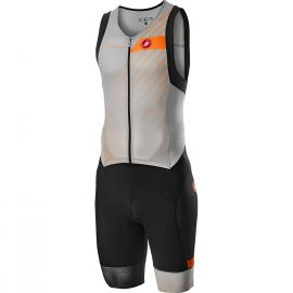 Castelli Free Sanremo Sleeveless Suit Grey/Orange 2021