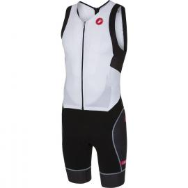 Castelli Free Sanremo Sleeveless Suit White/Black 2021