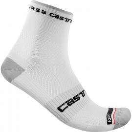 Castelli Rosso Corsa Pro 9 Sock White 2021