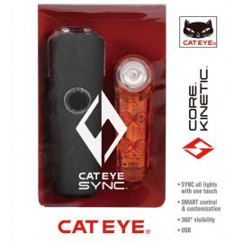 Cateye Sync Set Core & Kinetic Front & Rear Light Set