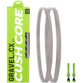 CushCore Gravel/CX 700c For Tyre 33-46mm Pair W. TL Valves Grey