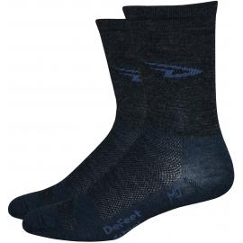 DeFeet High Top Charcoal Socks