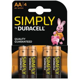 Duracell Simple AA Batteries (4 Pack)