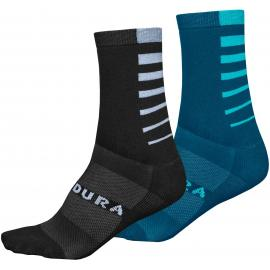 Endura Coolmax® Stripe Socks (Twin Pack)