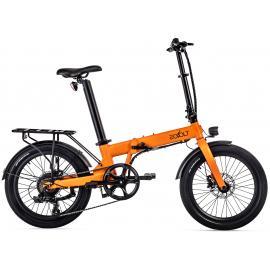 Eovolt Confort 20in Lightweight Folding E-Bike Orange 2021