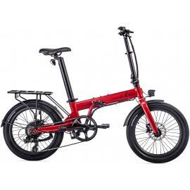 Eovolt Confort 20in Lightweight Folding E-Bike Red 2021