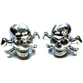 ETC Skull Valve Caps Silver