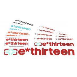 E-Thirteen Race Handlebar Decal Set Blue Blue