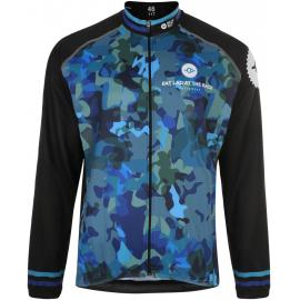 Fat Lad At The Back Lads Blue Camo Long Sleeve Jersey