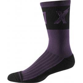 Fox 8in Trail Cushion Sock Wurd Dark Purple