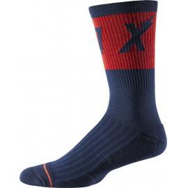 Fox 8in Trail Cushion Sock Wurd Navy