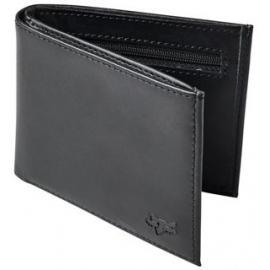 Fox Bifold Leather Wallet Black