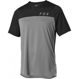 Fox Flexair Zip SS Jersey Pewter