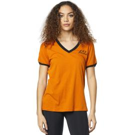 Fox Lapped Ss Top Orange