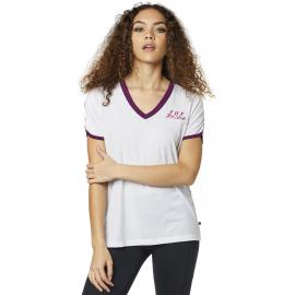 Fox Lapped Ss Top White