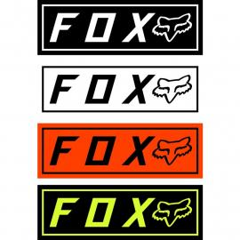Fox Racing Fox Bumper Stickers Black 2021