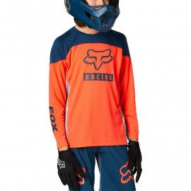 Fox Racing Yth Defend Ls Jersey Graphic 2 Atomic Punch 2021