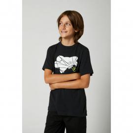 Fox Youth Shattered SS Tee Black 2021