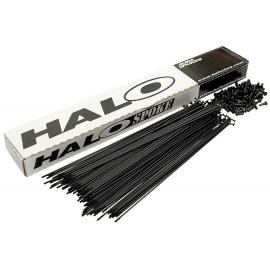 Halo ED Plain Gauge Spokes 14g Black With Nipples