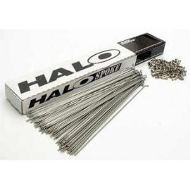 Halo Stainless Steel Plain Gauge 14g Spoke With Nipple