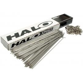 Halo Stainless Steel Plain Gauge 14g Spoke With Nipple