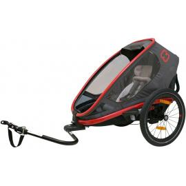Hamax Outback One Child Bike Trailer Red/Charcoal