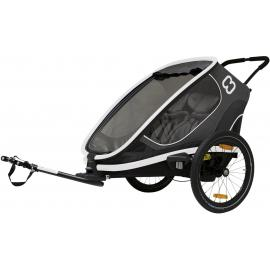 Hamax Outback Twin Child Bike Trailer Grey