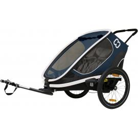 Hamax Outback Twin Child Bike Trailer Navy