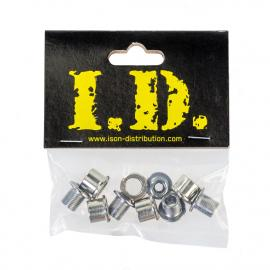 ID Chainring Bolts M8 0.75 Double Steel Hex Fitting